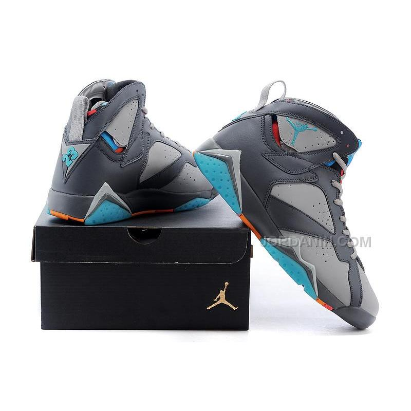 "purchase cheap 183c5 b90e0 Air Jordan 7 Retro ""Barcelona Days"" Wolf Grey-Total Orange-Turquoise Blue"