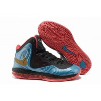 Nike Air Max Hyperposite Stoudemire Shoes Blue/Black/Red New
