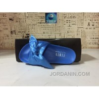 Puma X Fenty Bandana Slide ButterFly Blue Women Sandals Lastest