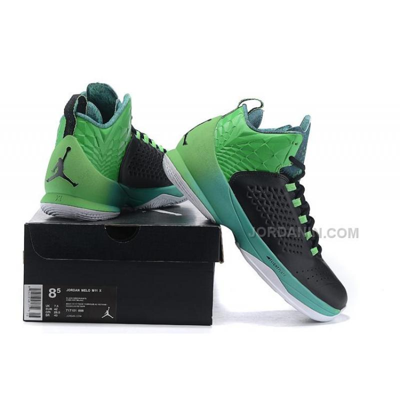 purchase cheap f1d78 eac81 ... Cheap Jordan Melo M11 Black Light Green Spark-Retro ...