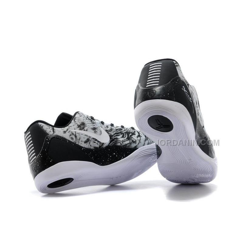cheap nike kobe 9 em black white grey for sale online new arrival