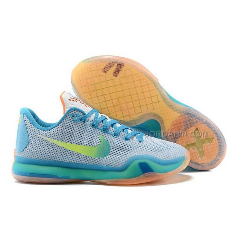 "100% authentic 30143 4667f USD  80.00. Buy Cheap Nike Kobe 10 ""High Dive"" White Blue Lagoon-Total  Orange ..."