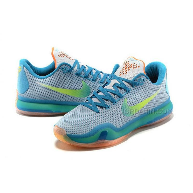 "detailed look 55138 41137 ... Buy Cheap Nike Kobe 10 ""High Dive"" White/Blue Lagoon-Total Orange ..."