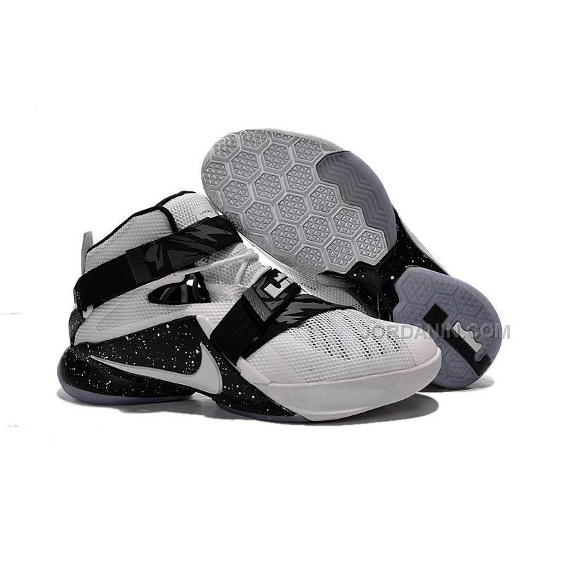 d51380e5db5 USD  88.00. Nike LeBron Zoom Soldier 9 White Black New For Sale ...
