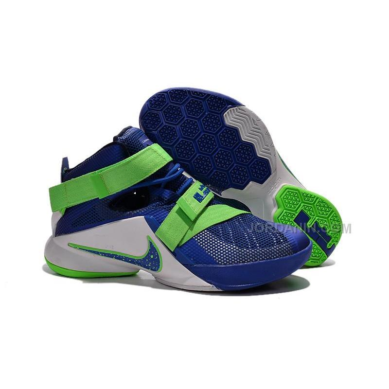 Nike LeBron Soldier 9 Sprite Game Royal White Green Streak