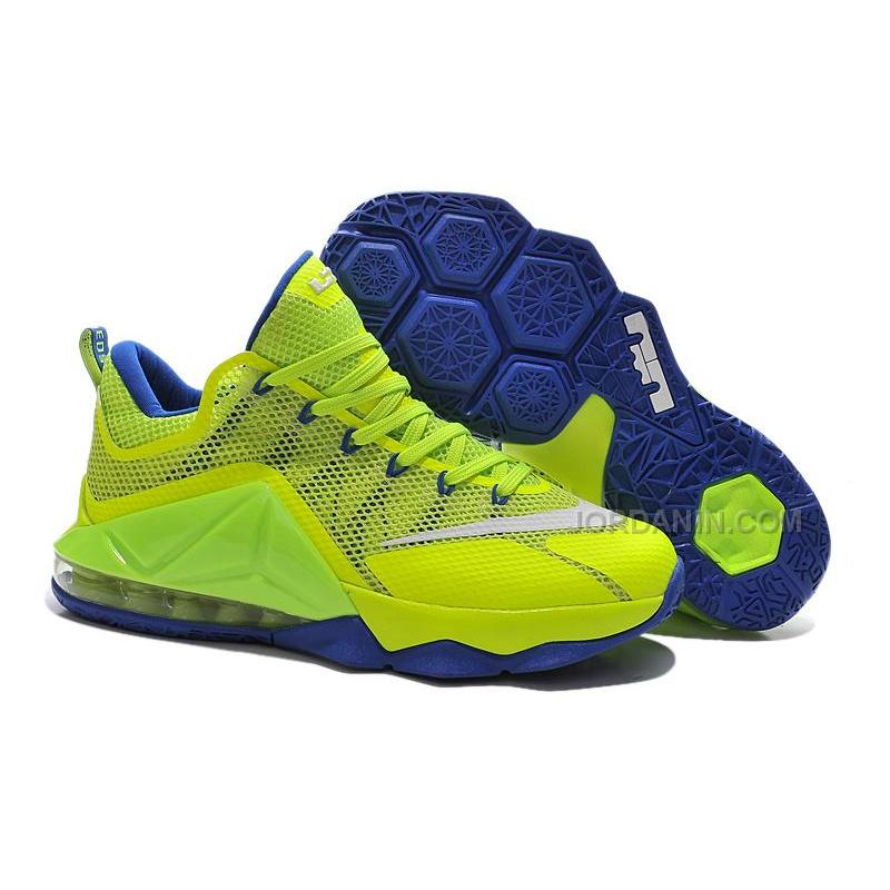 cheap for discount cfacb 8c511 Nike LeBron 12 Low Neon Green/Purple Online For Sale