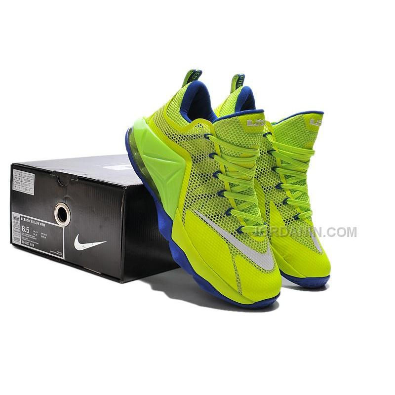 cheap for discount ece7c 65609 Nike LeBron 12 Low Neon Green/Purple Online For Sale