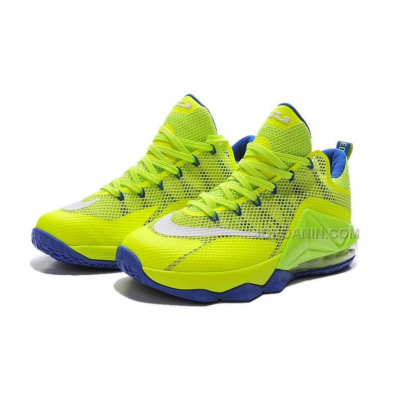 8f22e376084604 ... Nike LeBron 12 Low Neon Green Purple Online For Sale ...