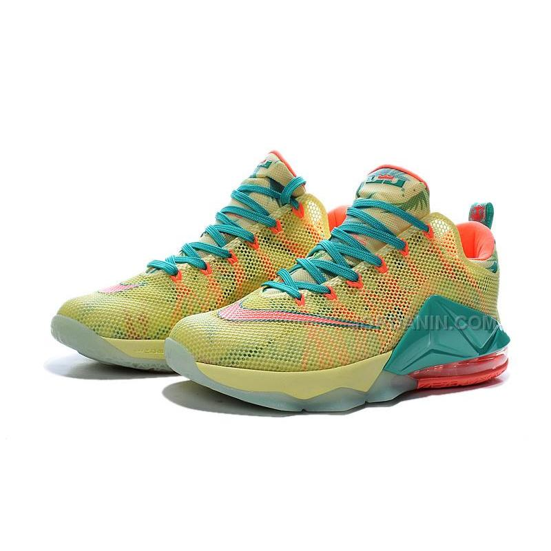 "detailed look af331 f979d ... Nike LeBron 12 Low ""LeBronold Palmer"" White Lime-Bright Mango For Sale  ..."