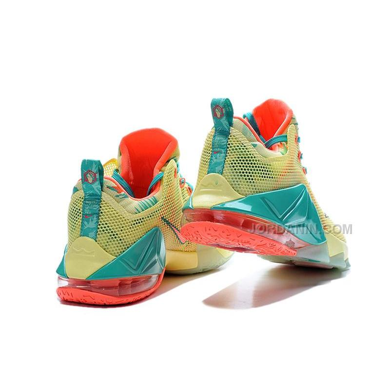 "detailed look 4da46 e38a2 ... Nike LeBron 12 Low ""LeBronold Palmer"" White Lime-Bright Mango For Sale  ..."