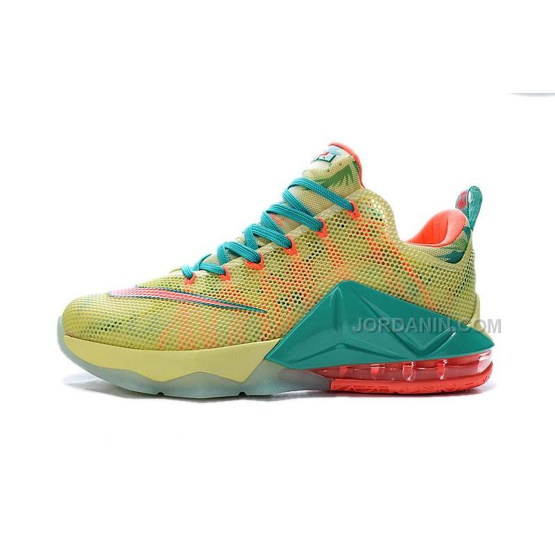 "watch 325c5 d1a5e ... Nike LeBron 12 Low ""LeBronold Palmer"" White Lime-Bright Mango For Sale"