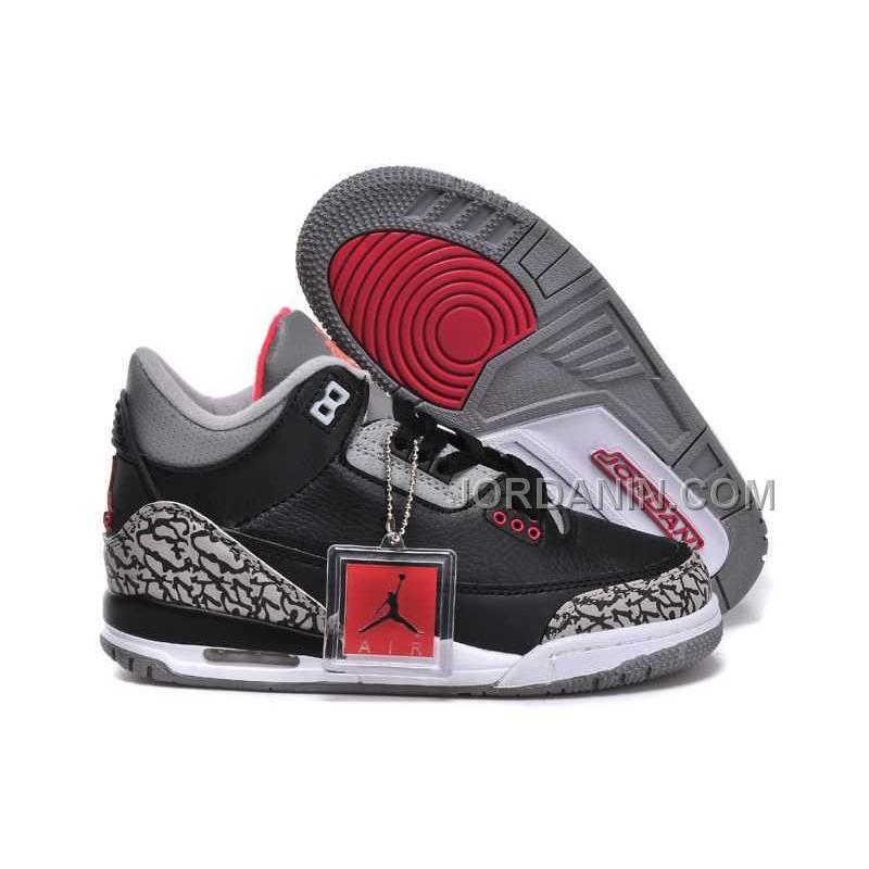 165edf700f4 USD $85.00. For Sale Nike Air Jordan 3 Kids 2014 Grey Black Red Shoes ...