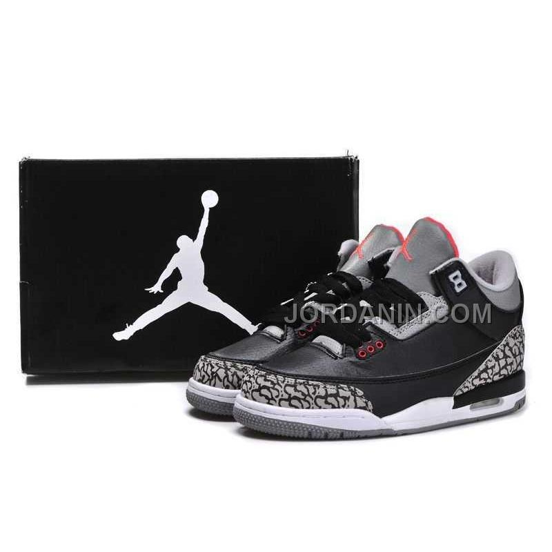 a9ae0a78a0b For Sale Nike Air Jordan 3 Kids 2014 Grey Black Red Shoes, Price ...