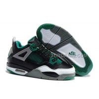 For Sale Nike Air Jordan 4 Kids Black Green Grey Shoes