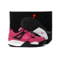 For Sale Nike Air Jordan 4 Kids Pink Black Shoes