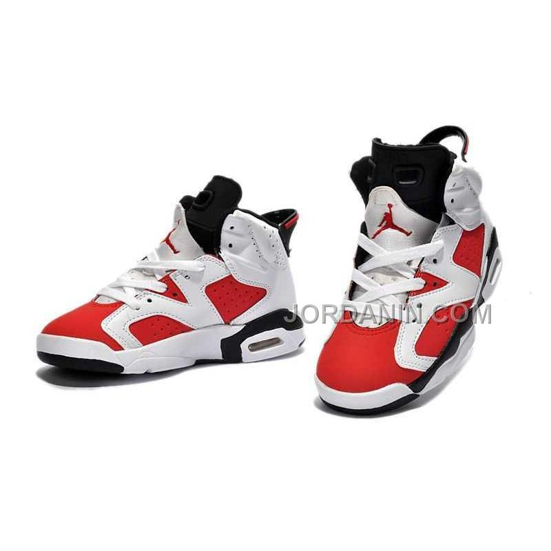 595576064ce1 ... For Sale Nike Air Jordan 6 Kids White Red Black Shoes ...