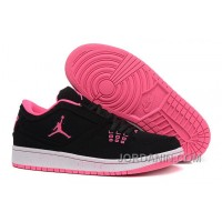 Girls Air Jordan 1 Low Black Pink Shoes For Sale