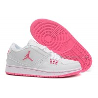 Girls Air Jordan 1 Low White Pink Shoes For Sale Hot