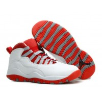 Air Jordans 10 Retro White/ Varsity Red For Sale Free Shipping