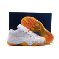 "Girls Air Jordan 11 Low ""Citrus"" Shoes For Sale"