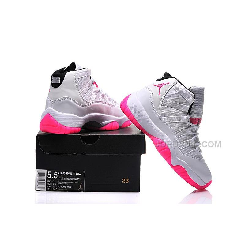 ff14a1ed408700 ... 2016 Girls Air Jordan 11 White Pink Shoes For Sale Online Hot