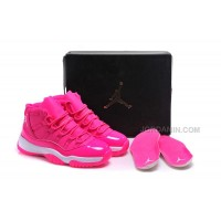 "2016 Girls Air Jordan 11 ""Pink Everything"" Pink White Shoes For Sale Online Hot"