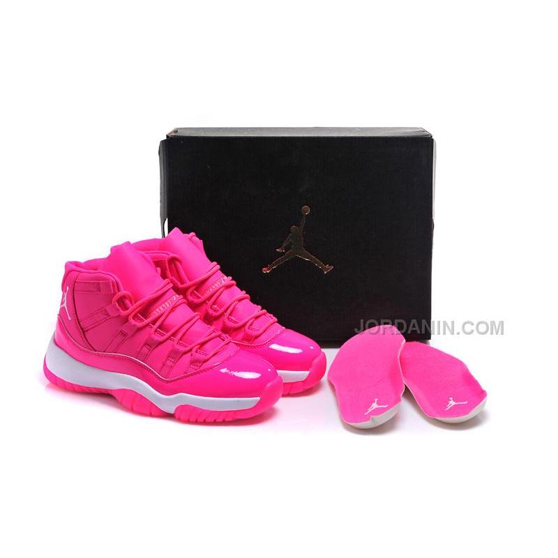 """8195d07081dfa2 USD  87.00. 2016 Girls Air Jordan 11 """"Pink Everything"""" Pink White Shoes For Sale  Online Hot ..."""