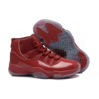 Girls Air Jordan 11 Red-Brown Leather Shoes For Sale Hot