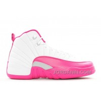 "Girls Air Jordan 12 GS ""Vivid Pink"" White/Metallic Silver/Vivid Pink 2016"