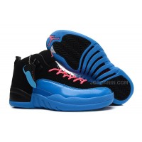 "Girls Air Jordan 12 ""Gamma Blue"" For Sale Free Shipping"