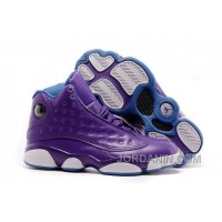 "2016 Girls Air Jordan 13 ""Hornets"" Purple/Orion Blue For Sale"