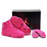 Girls Air Jordan 13 All-Pink Shoes For Sale Online