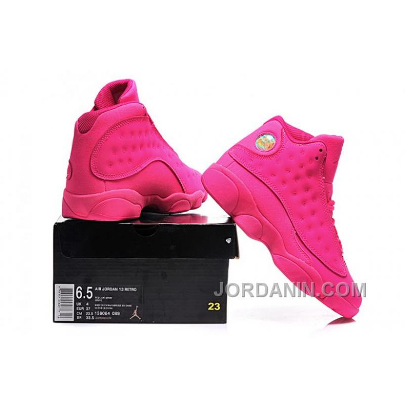 ... Girls Air Jordan 13 All-Pink Shoes For Sale Online ... f9cc3dd6a