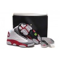 "Girls Air Jordan 13 Retro ""Cement Grey"" White/Black-True Red-Cement Grey For Sale"