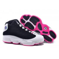"2016 Girls Air Jordan 13 Retro ""Hyper Pink"" Black/Hyper Pink-White For Sale"