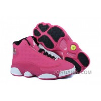 Girls Air Jordan 13 Retro Fusion Pink/Black-White For Sale