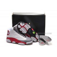 "Girls Air Jordan 13 Retro ""Cement Grey"" White/Black-True Red-Cement Grey For Sale Hot"