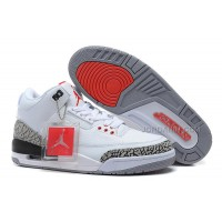 Air Jordans 3 Retro '88 White/Fire Red-Cement Grey-Black