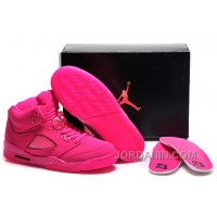 Girls Air Jordan 5 All-Pink Shoes For Sale Online