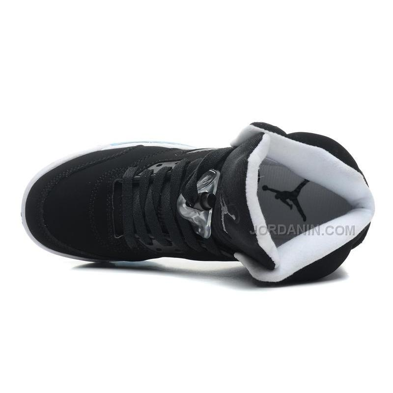 "31beb3335dff ... New Air Jordans 5 Retro ""Oreo"" Black Cool Grey-White For Sale ..."