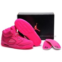 Girls Air Jordan 5 All-Pink Shoes For Sale Online Hot