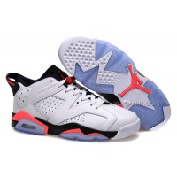 "Girls Air Jordan 6 Low ""White Infrared"" Shoes For Sale Hot"