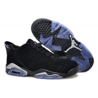 "Girls Air Jordan 6 Low ""Chrome"" Black/Metallic Silver-White For Sale Hot"