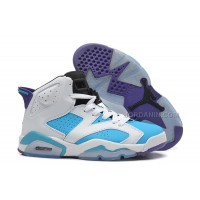 Girls Air Jordan 6 Retro White Blue Purple For Sale Online New
