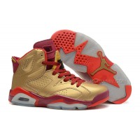Air Jordans 6 Retro Metal Gold/Deep Red-Varsity Red For Sale Free Shipping