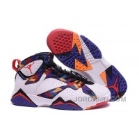 "2016 Girls Air Jordan 7 ""Nothing But Net"" White/University Red-Black-Bright Concord"