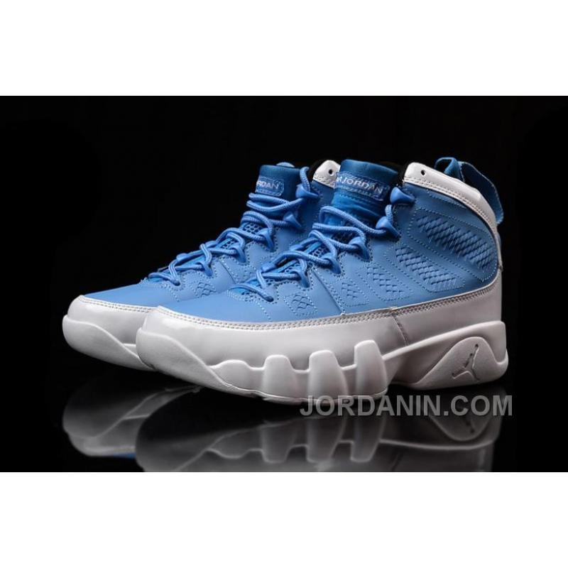 "89b088bb778dc8 ... Girls Air Jordan 9 ""For The Love Of The Game"" Blue White Shoes For ..."
