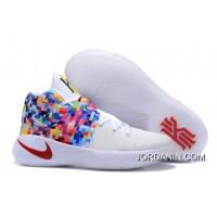 """Top Deals Girls Nike Kyrie 2 """"Effect"""" White-Red/Multi-Color"""