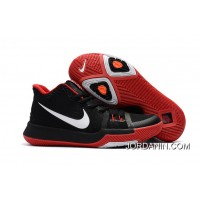Outlet Girls Nike Kyrie 3 Black Red White
