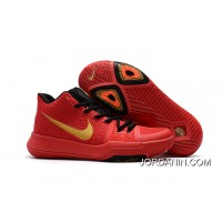 Girls Nike Kyrie 3 Red Black Gold Outlet